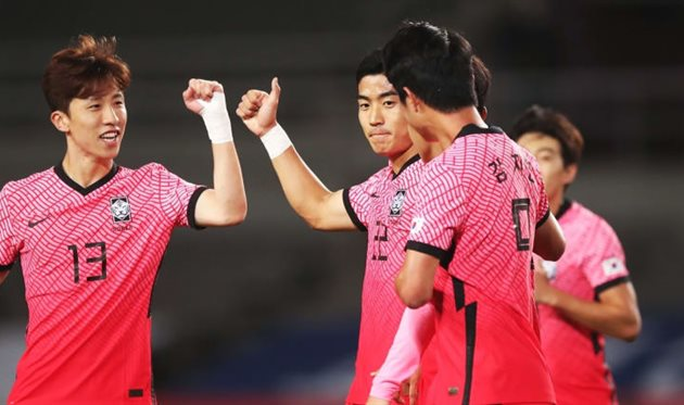 Игроки сборной Кореи