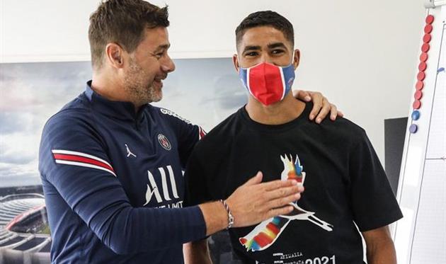 Маурисио Почеттино и Ашраф Хакими, facebook.com/PSG