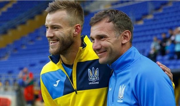 Ярмоленко и Шевченко, фото Ярмоленко
