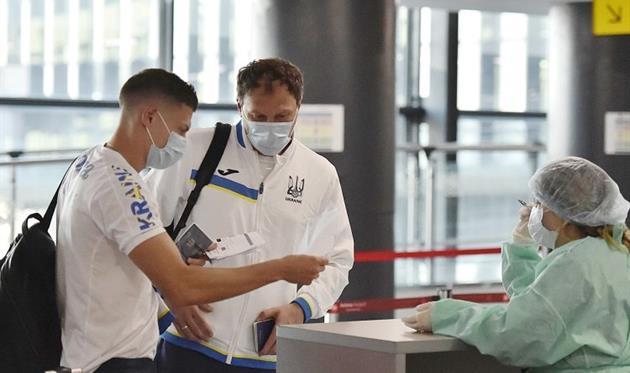 Сборная Украины прибыла в Казахстан