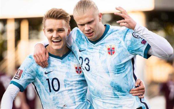 Эдегор и Холанд, Инстаграм сборной Норвегии
