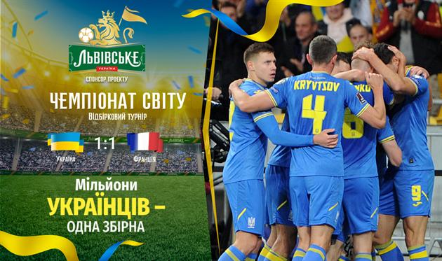 Украина вновь сыграла вничью против Франции