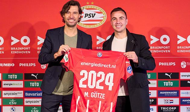 Марио Гетце (справа), ПСВ