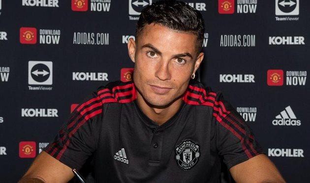 Криштиану Роналду. Фото Манчестер Юнайтед