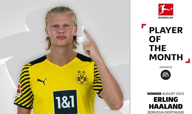 Холанд признан игроком месяца в Бундеслиге