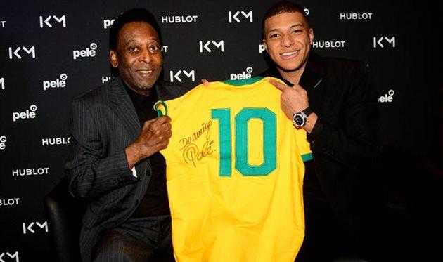 Пеле (слева) и Килиан Мбаппе, Getty Images