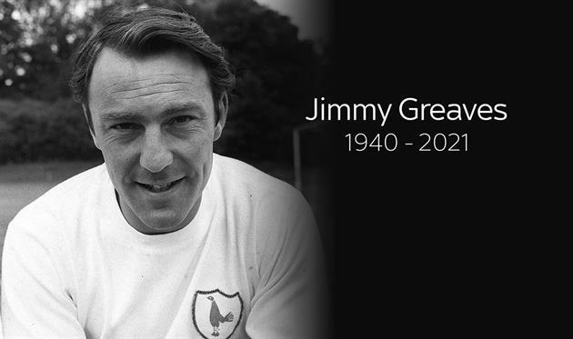 Умер легендарный нападающий Тоттенхэма и сборной Англии Джимми Гривз