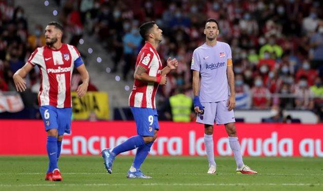 Луис Суарес в матче против Барселоны, Getty Images