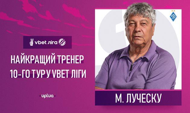 Луческу — лучший тренер 10 тура УПЛ