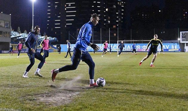 Сборная Украины продолжает подготовку к матчу против Финляндии