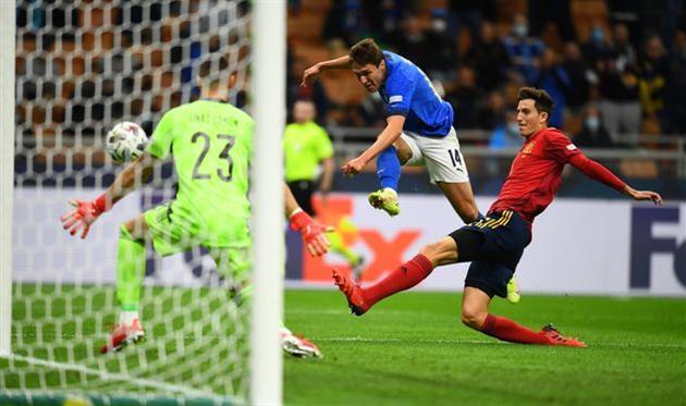 Федерико Кьеза в матче против Испании, Getty Images