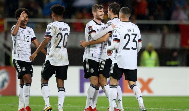 Радость игроков сборной Германии, getty images