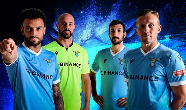 Игроки Лацио в новых футболках, S.S.Lazio