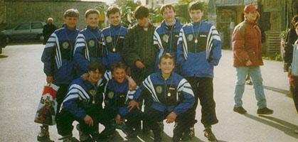 Уникальное фото: Андрей Русол в динамовской форме (стоит крайний справа), фото из архива