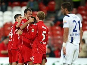Игроки Энерги празднуют успех, фото kicker.de