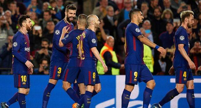 Барселона легко разгромила Рому