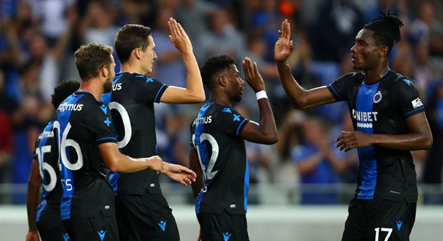 Игроки Брюгге празднуют гол в ворота Динамо, Getty Images