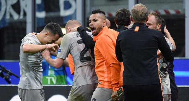 Игроки Шахтера празднуют победный гол, фото: ФК Шахтер