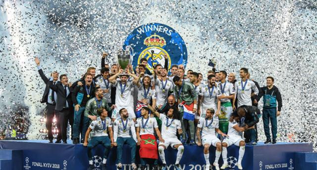 Реал празднует победу в Лиге чемпионов, Getty Images