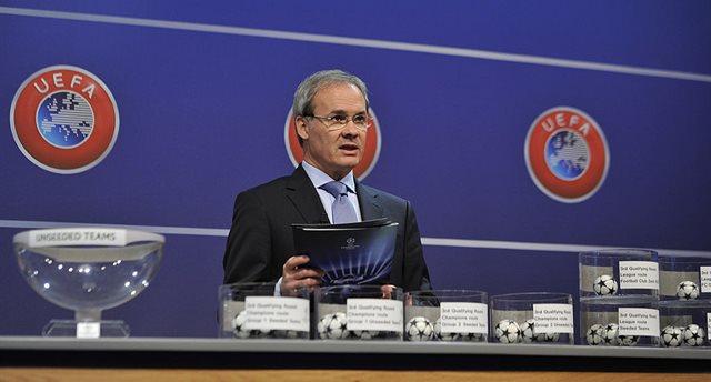 Джорджио Маркетти на жеребьевке Лиги чемпионов, Getty Images
