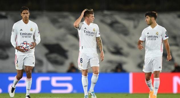 Игроки Реала после матча с Шахтером, Getty Images