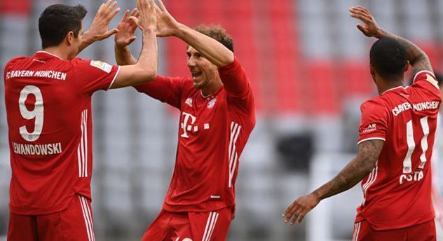Празднование игроков Баварии, Getty Images