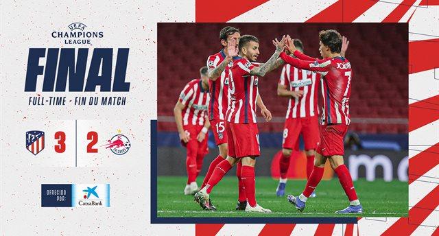 Атлетико вырвал победу у Зальцбурга в ярком матче
