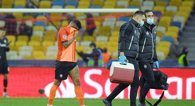 Травма Дентиньо в матче с Интером, фото ФК Шахтер Донецк