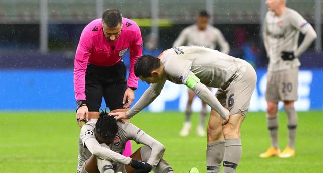 Витао получил травму в первом тайме матча против Интера