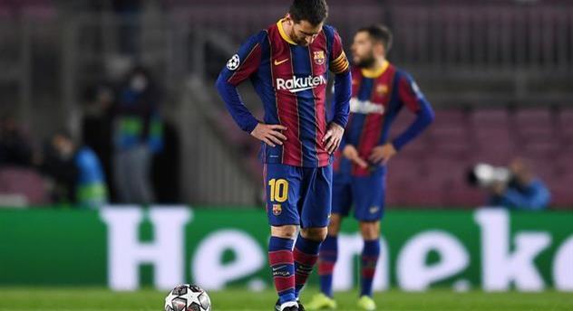 Лионель Месси в матче против ПСЖ, Getty Images