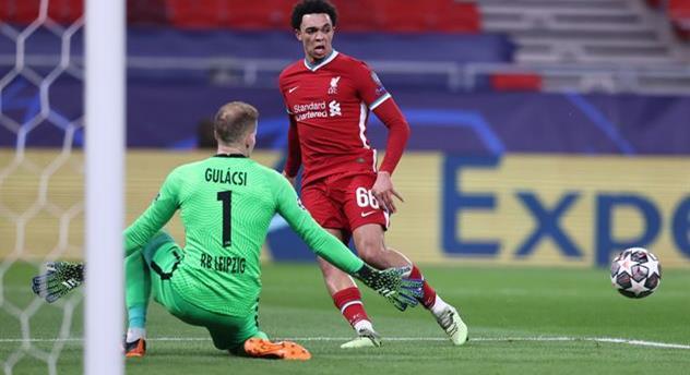 Петер Гулачи в ответном матче против Ливерпуля, Getty Images