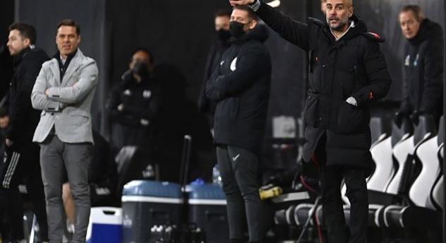 Хосеп Гвардиола в матче против Фулхэма, Getty Images