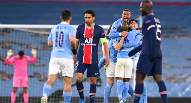 Радость игроков Манчестер Сити, getty images
