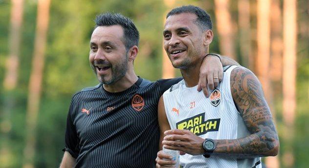 Алан Патрик (справа) и Роберто Де Дзерби, фото ФК Шахтер Донецк