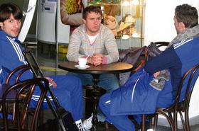 Сегрей Ребров вместе с СаШо и Шевой, фото Сегодня/спорт